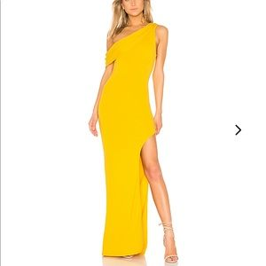 Lovers + Friends Jersey Knit Marigold Gown Small
